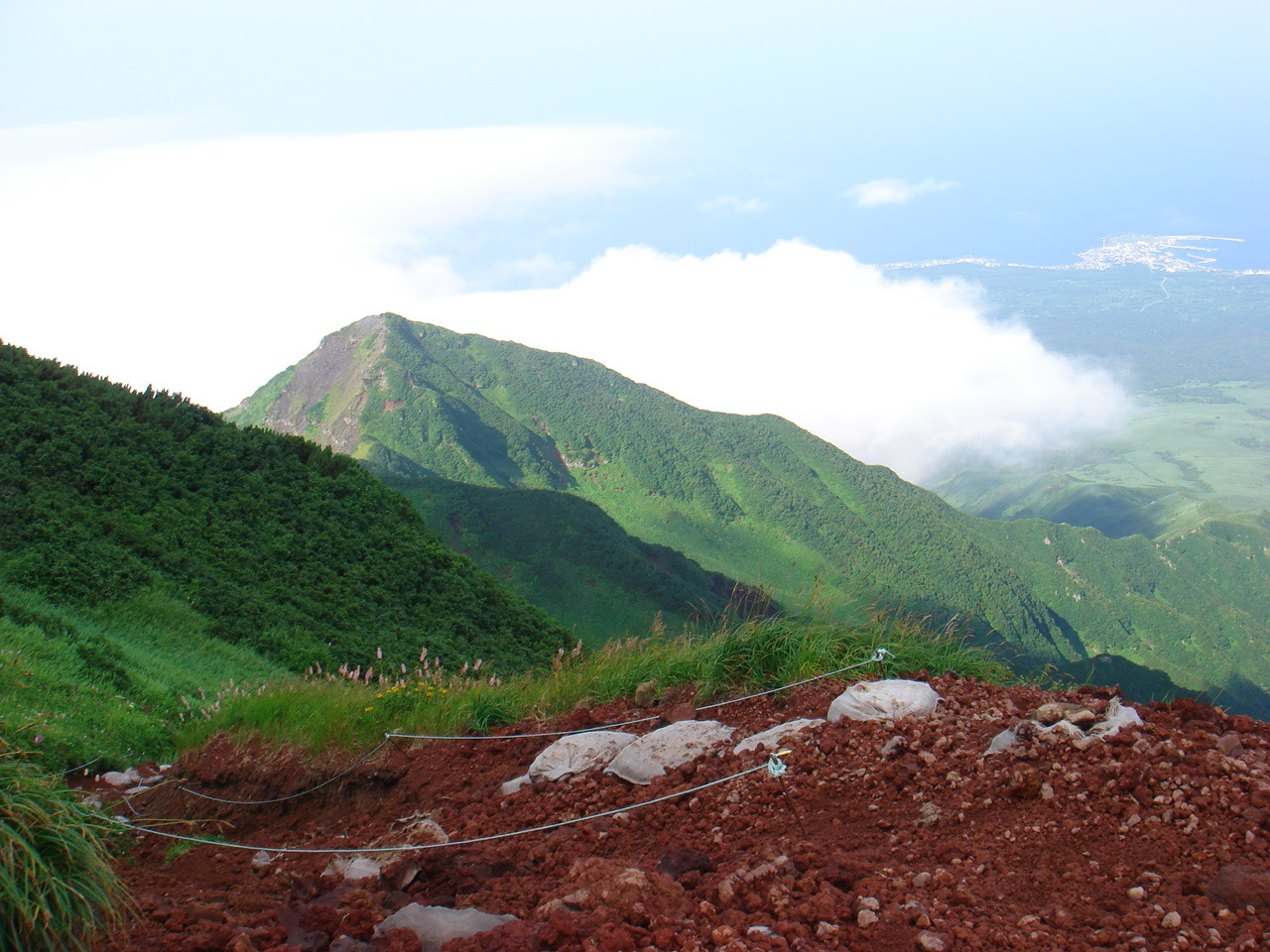 利尻岳,9合目〜山頂