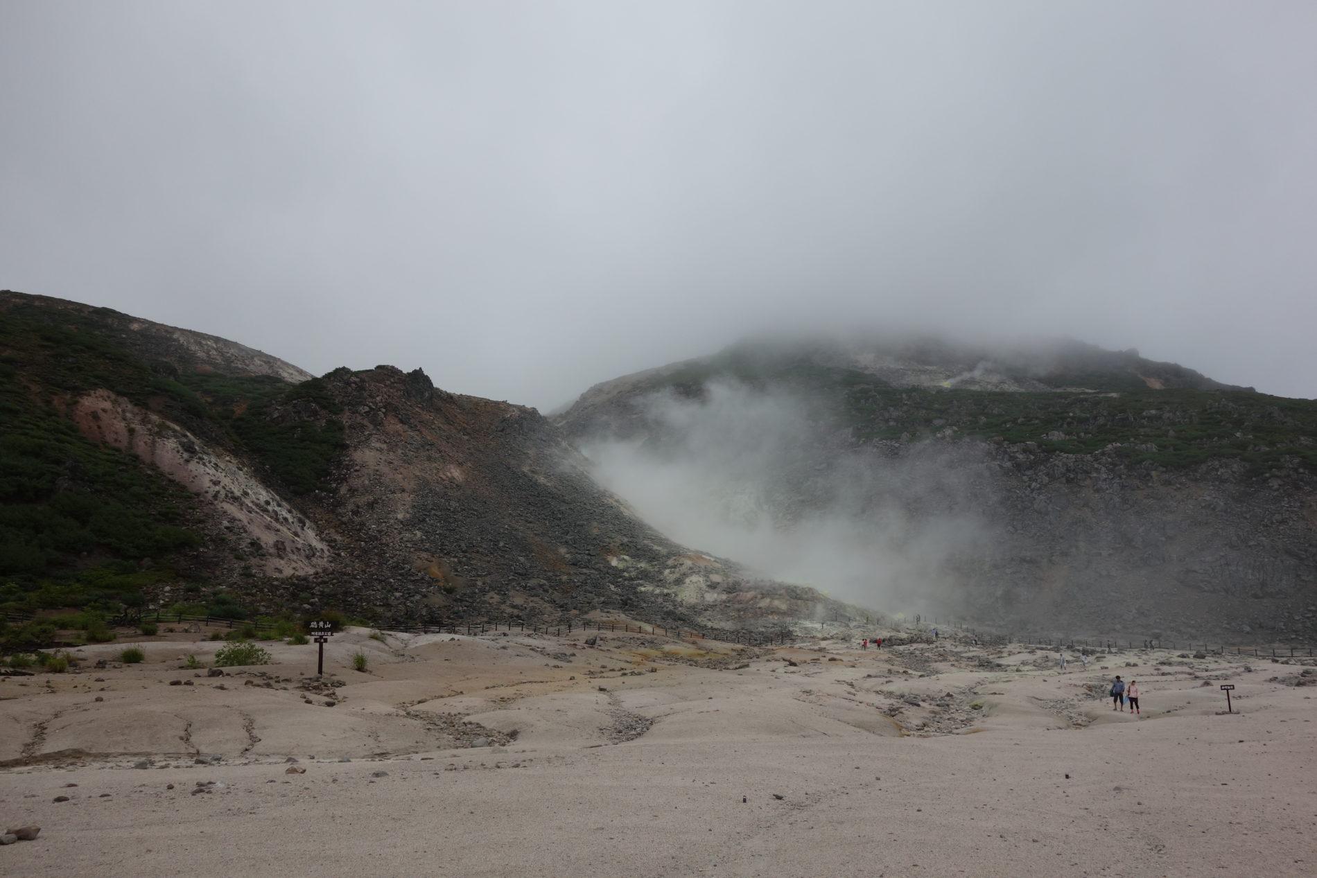 屈斜路湖 硫黄山