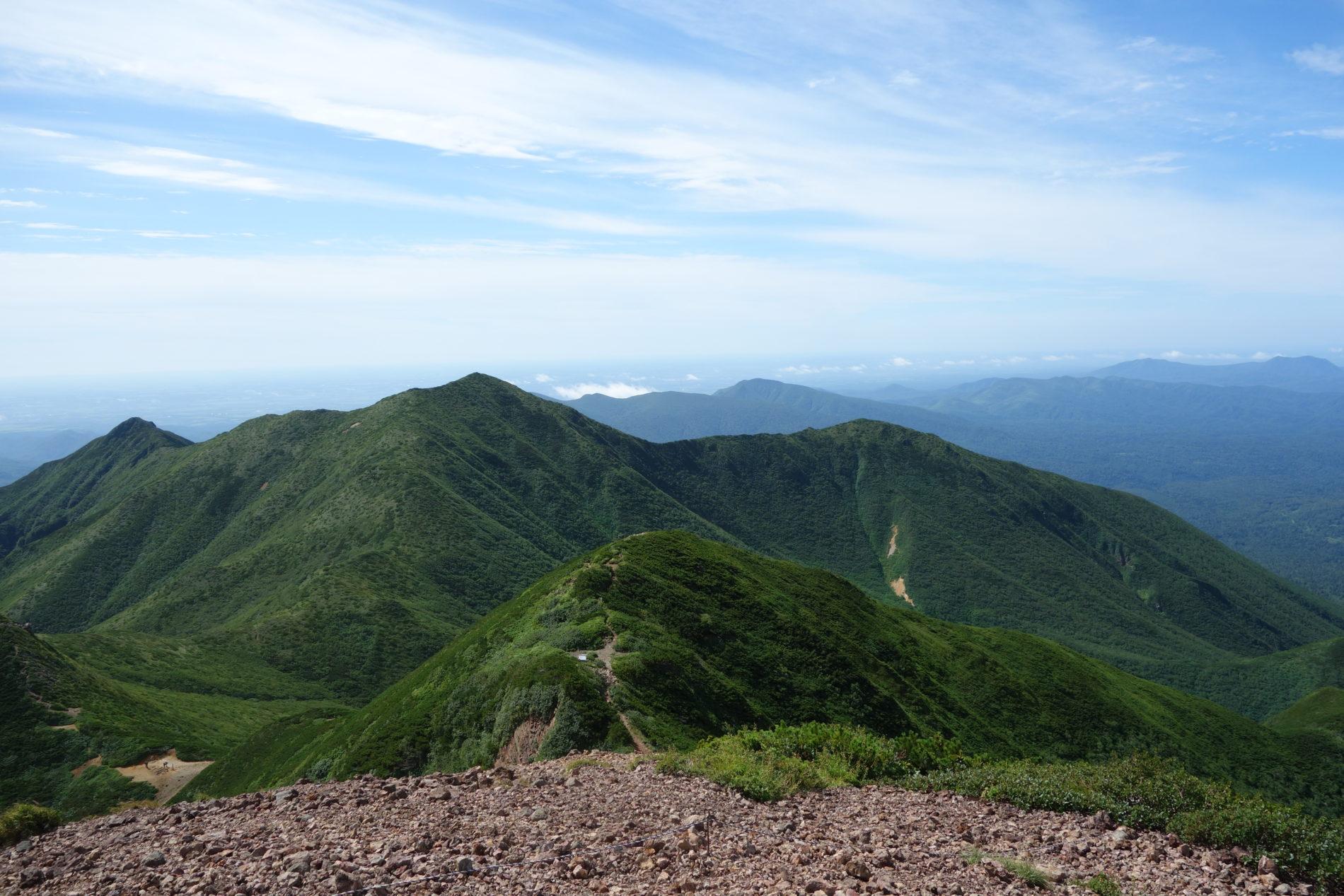 斜里岳,山頂