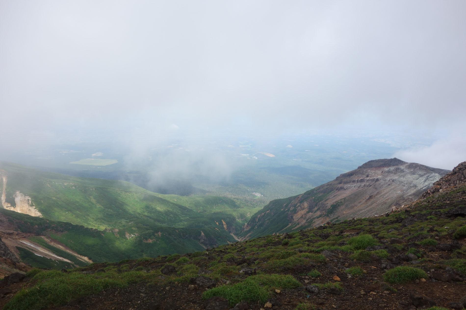 十勝岳山頂〜上ホロカメットク