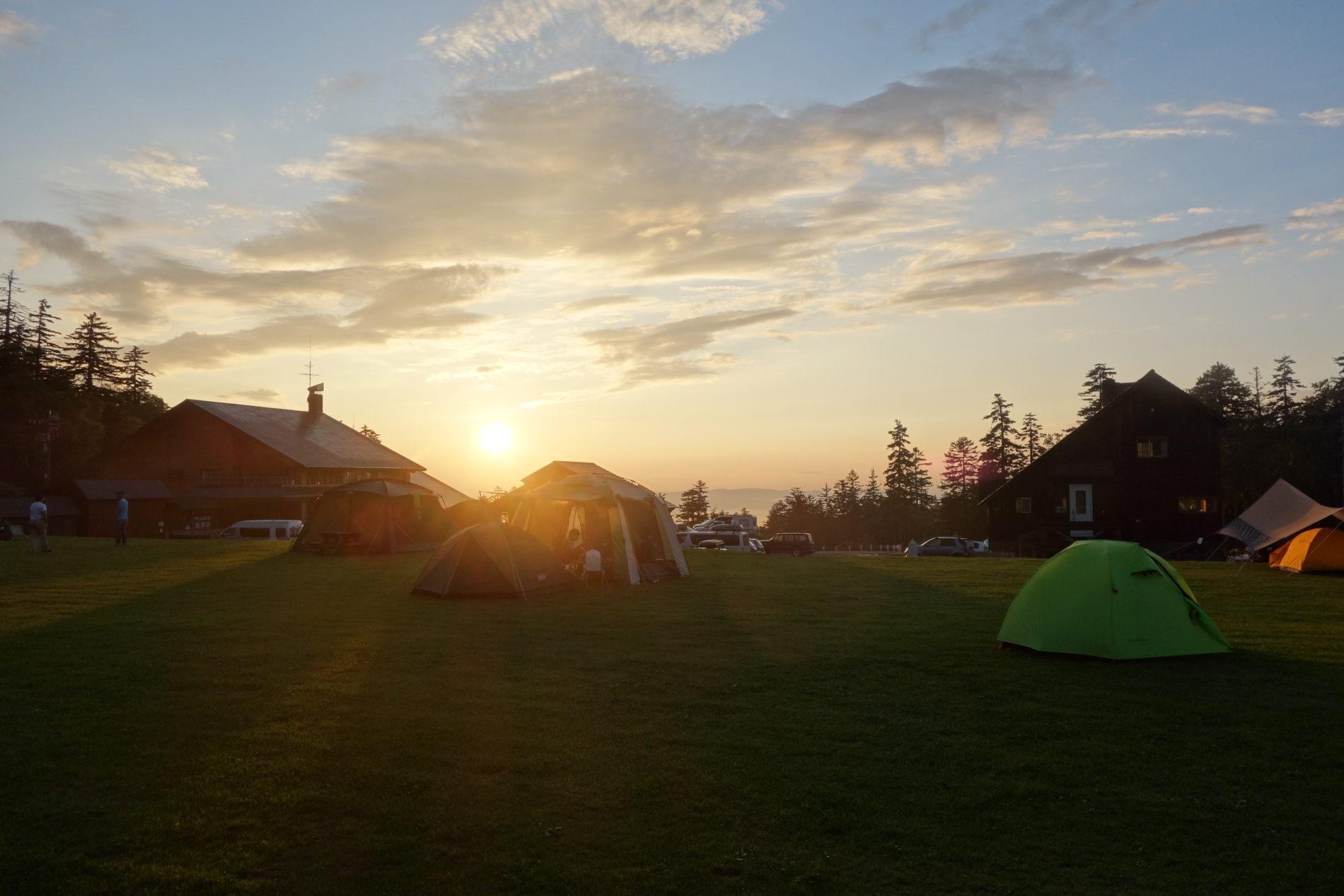白銀荘前キャンプ場