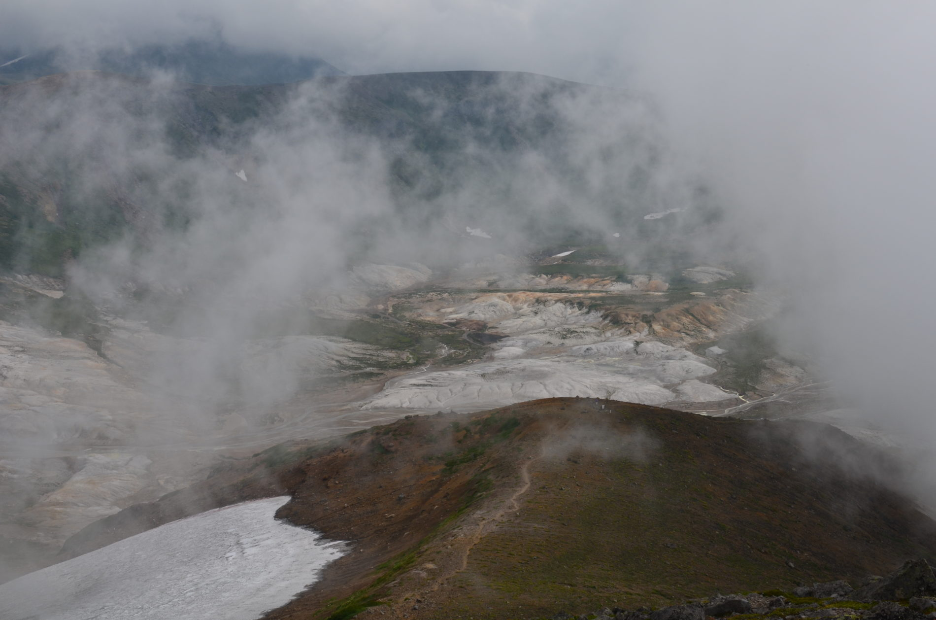 大雪山 中岳〜黒岳ロープウェイ