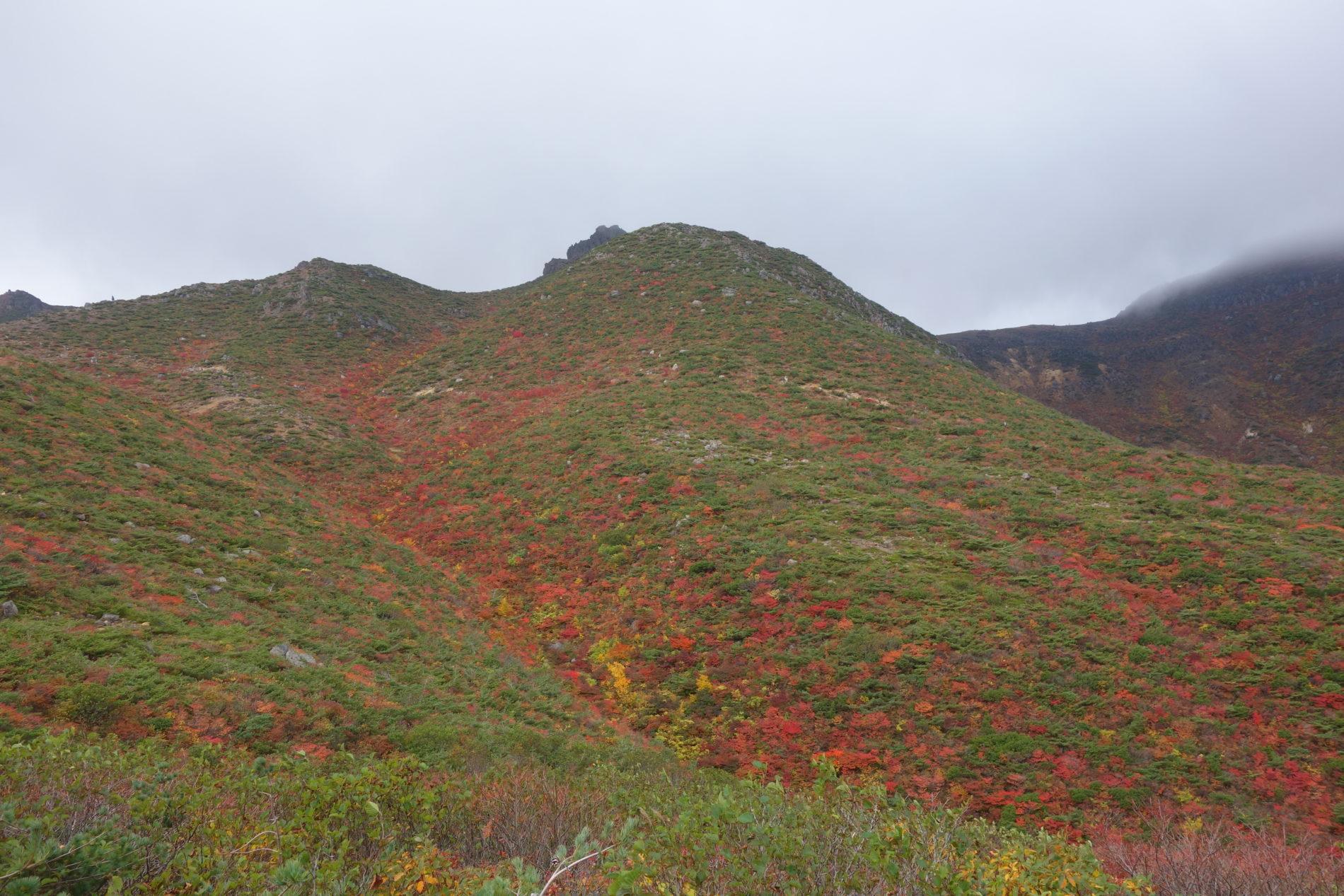 安達太良山 山頂〜下山
