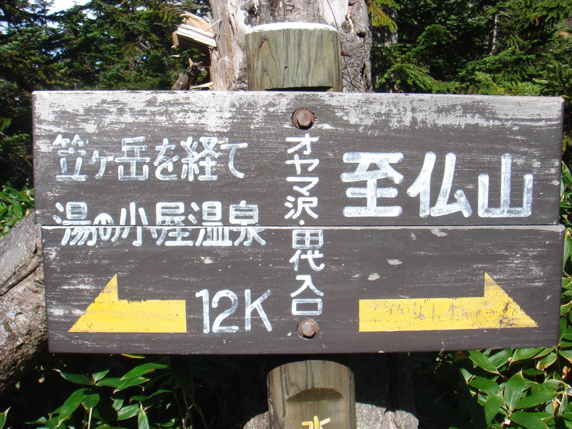 至仏山 小至仏山〜オヤマ沢田代分岐