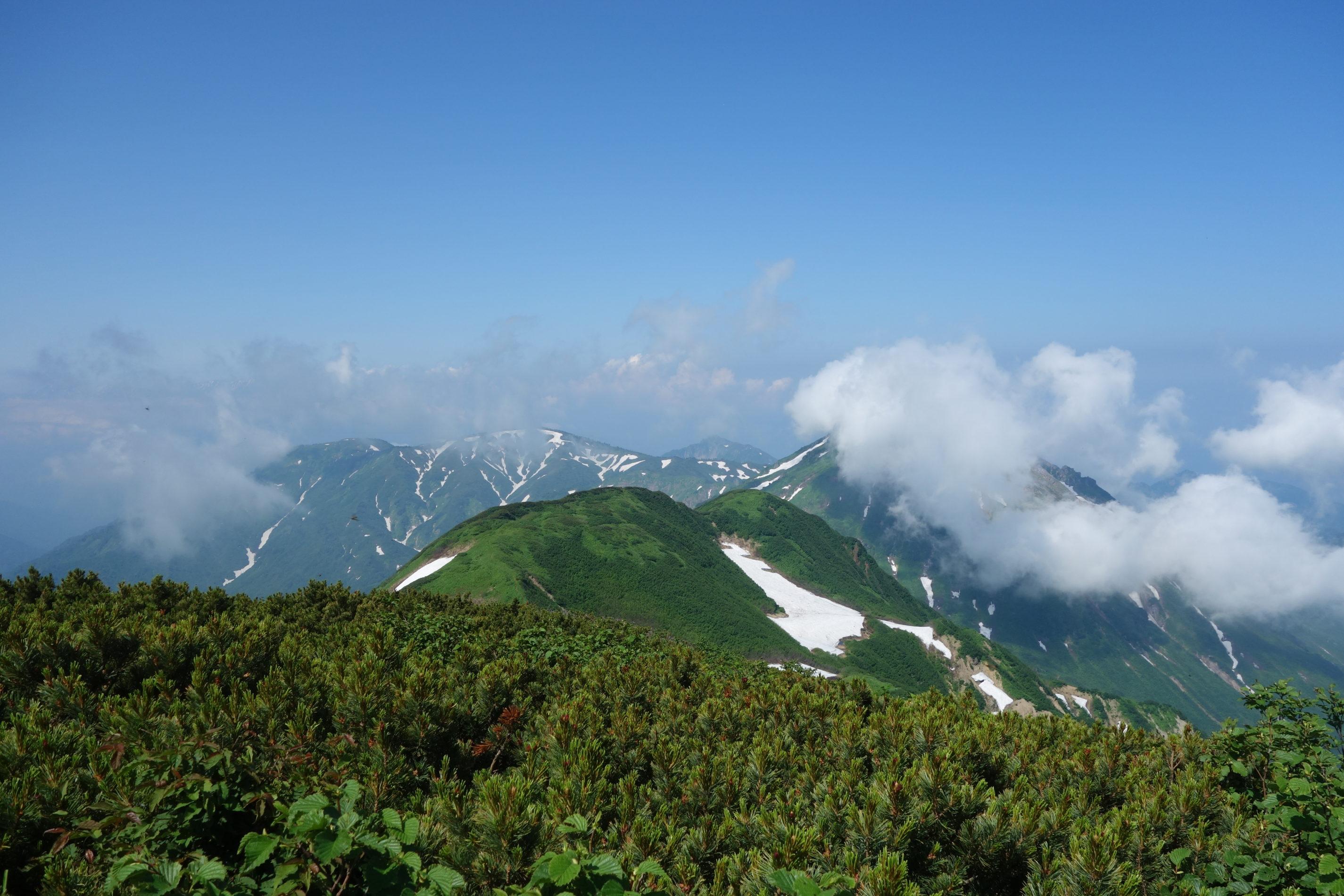 火打山 山頂〜黒沢池ヒュッテ〜下山