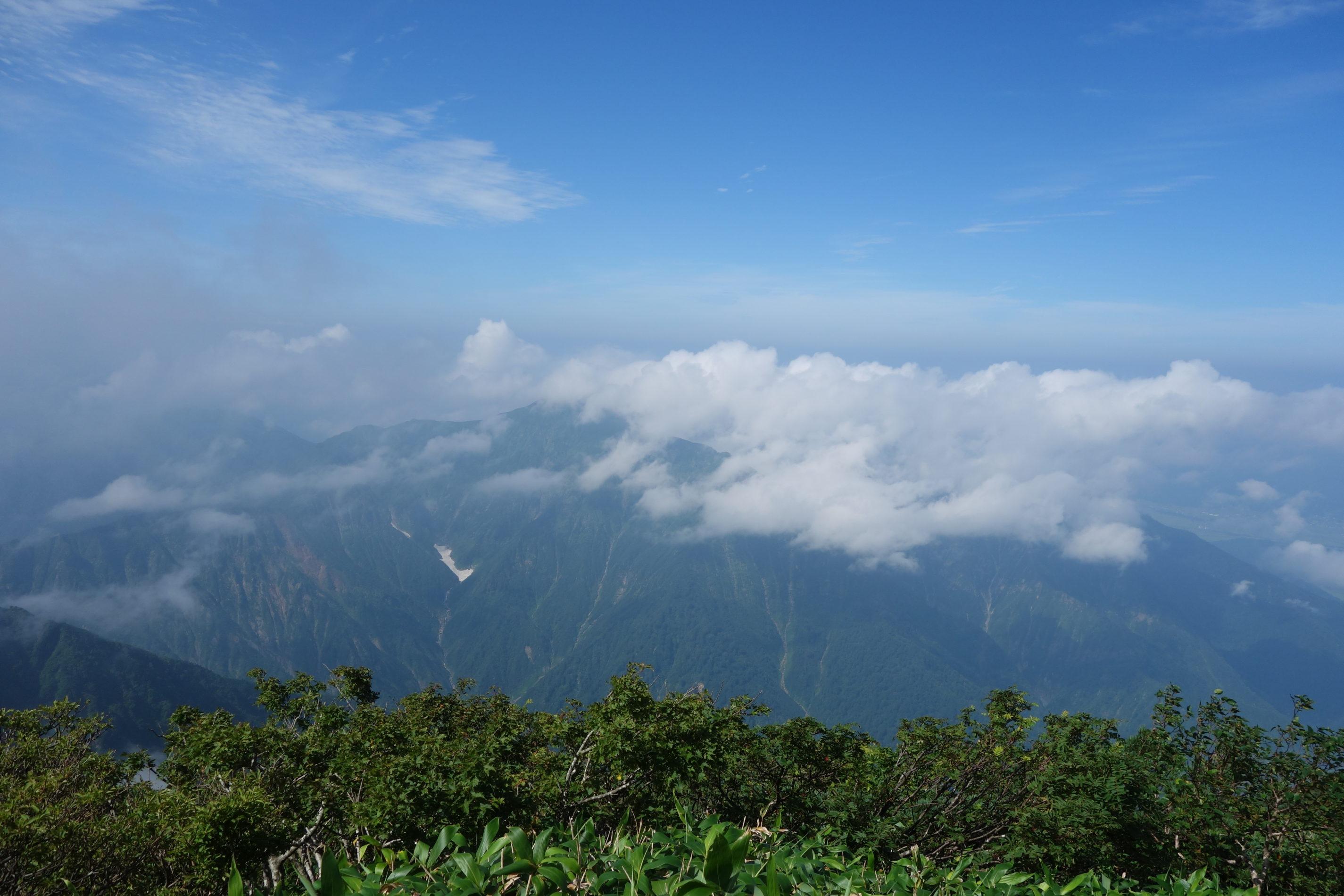越後駒ケ岳 山頂風景〜下山