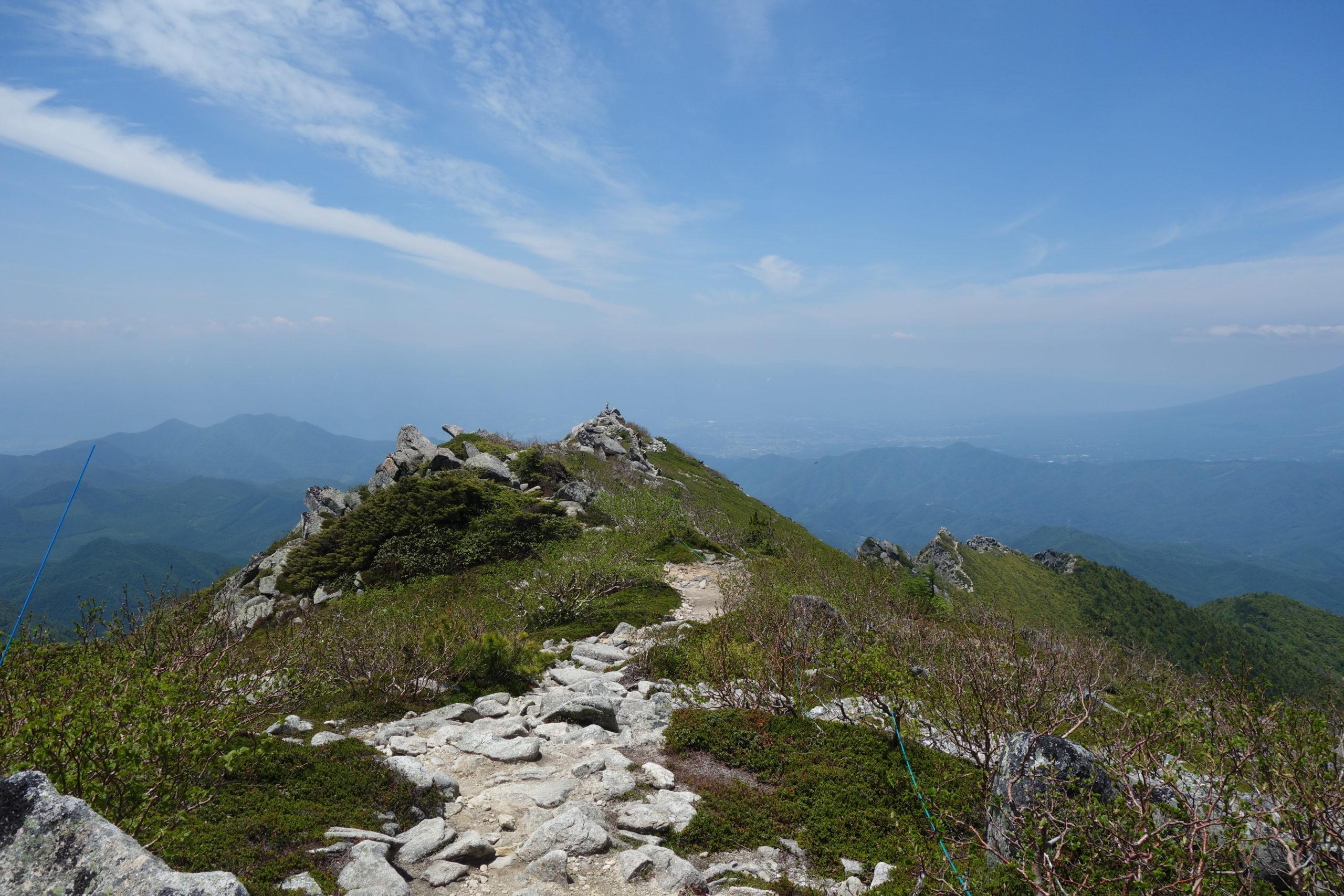 金峰山 山頂〜下山