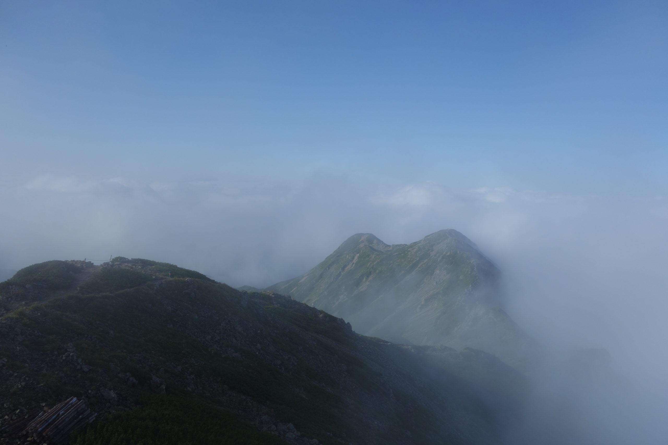 仙丈ケ岳 仙丈ケ岳山頂からの景色