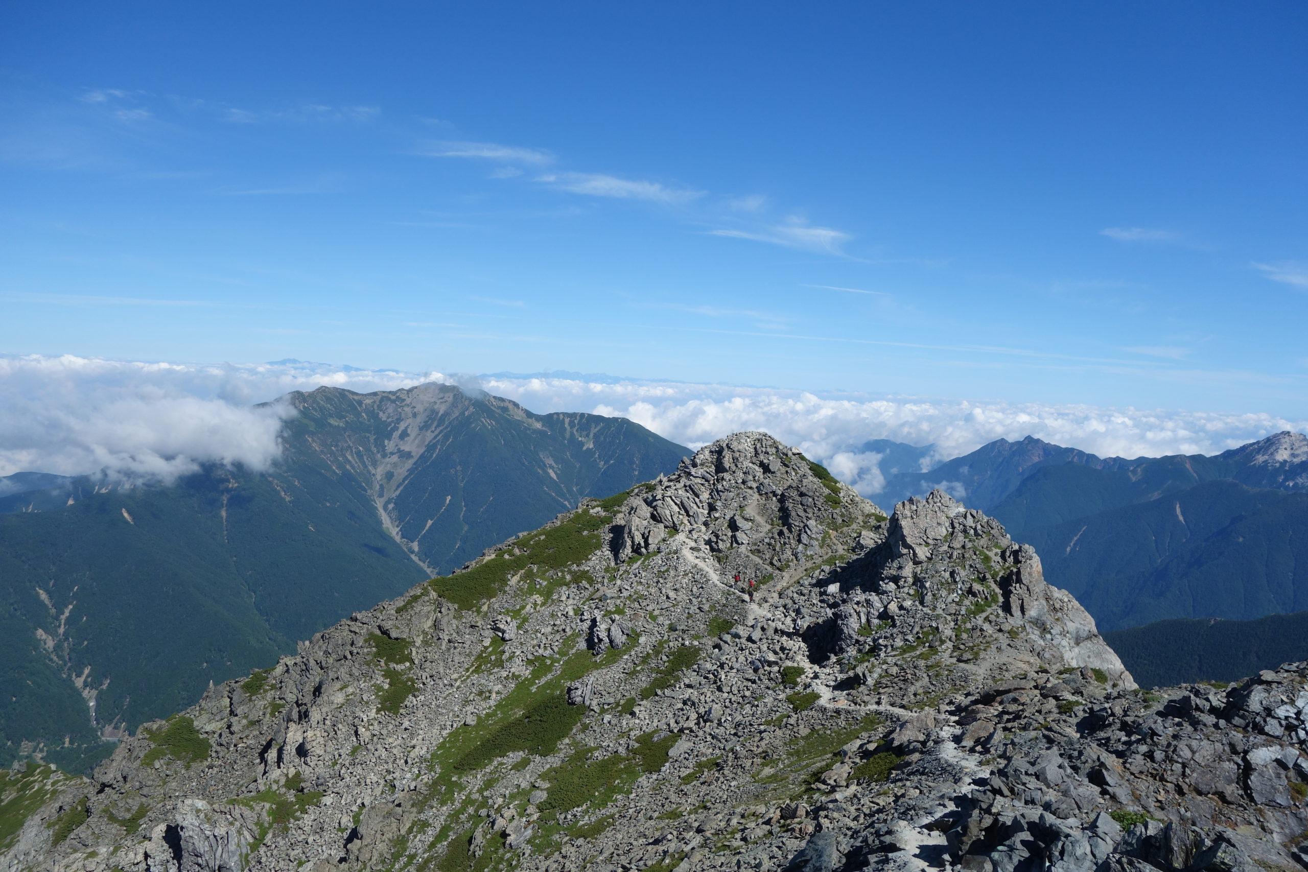 北岳 北岳肩の小屋〜北岳山頂