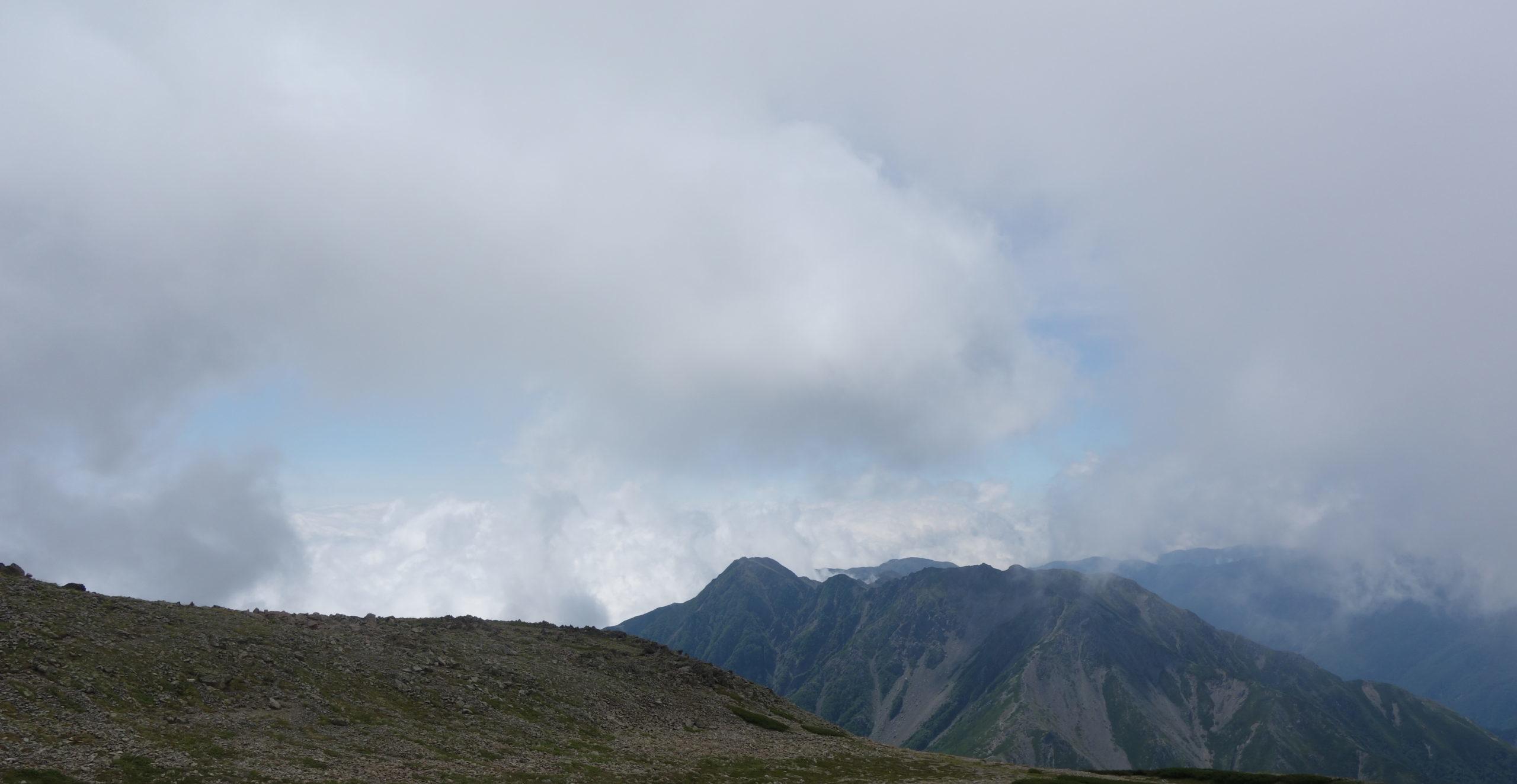 間ノ岳 間ノ岳山頂〜北岳〜広河原山荘