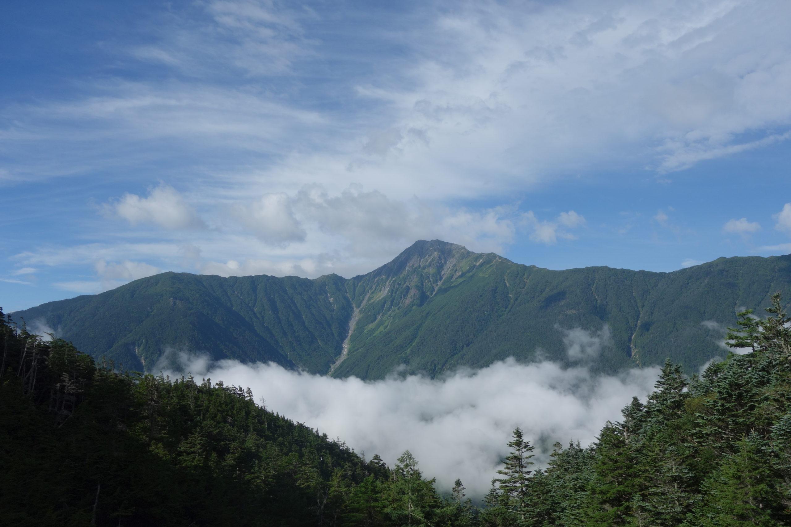 鳳凰三山地蔵岳 広河原〜白凰峠