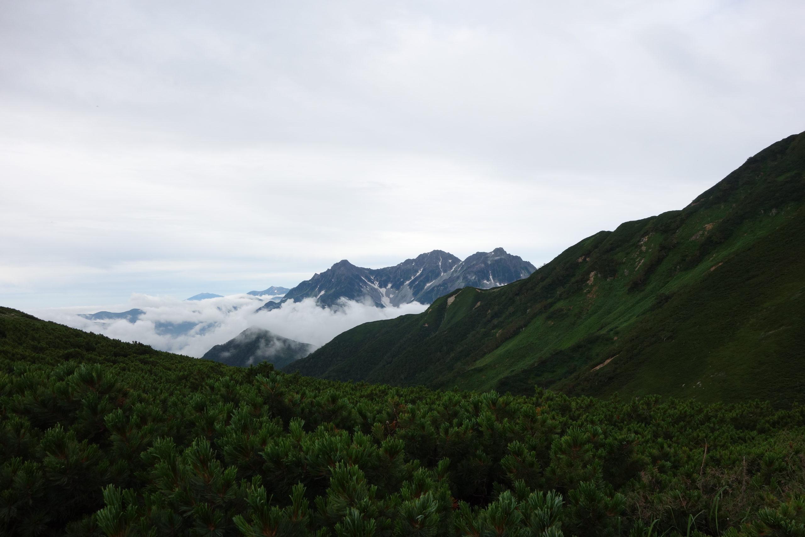 大天井岳 横樋岳中腹〜大天井岳山頂