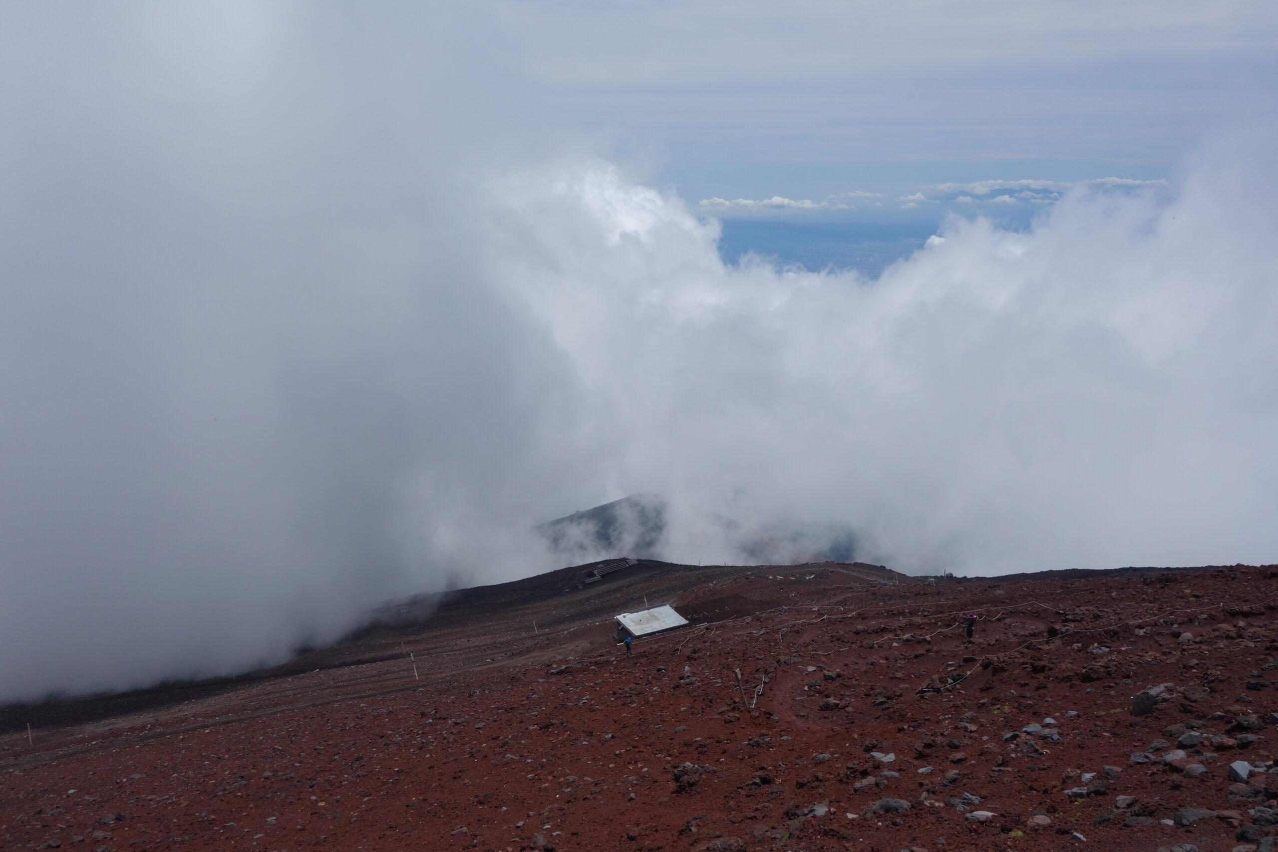 富士山 山頂〜下山